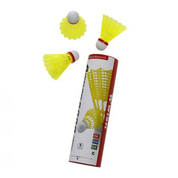 NYLON SHUTTLECOCK 6 PCS RED SPEED AF-6000 YELLOW?