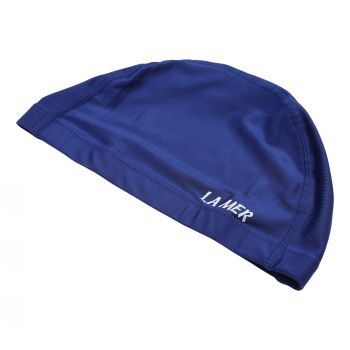 LYCRA CAP LAMER SENIOR WIDE BAND NAVY BLU LY02