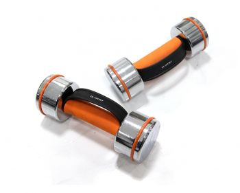CHROME DUMBBELL IN FOAM W/CARRY HANDLE 4KG