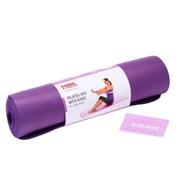 YORK FITNESS PILATES MAT WITH BAND 60226